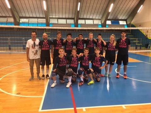Primo allenamento stagionale dell 'under 14 Invent Volley Team Club